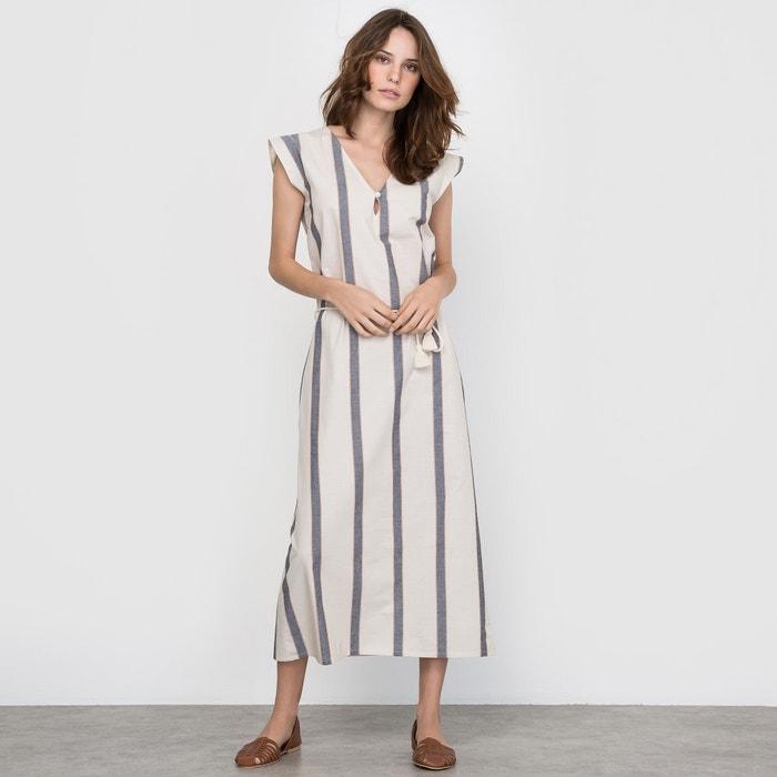 Image Striped Midi Dress La Redoute Collections