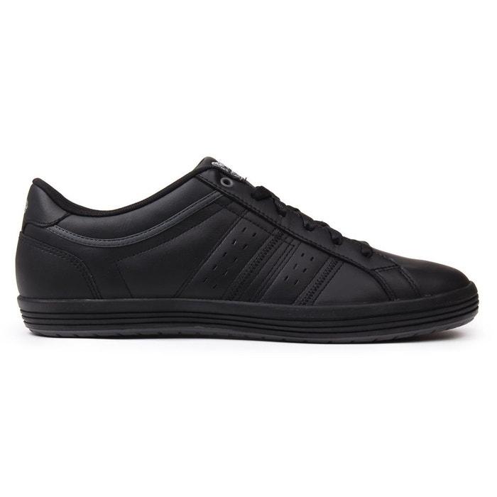 Baskets basses en cuir noir/noir Lonsdale