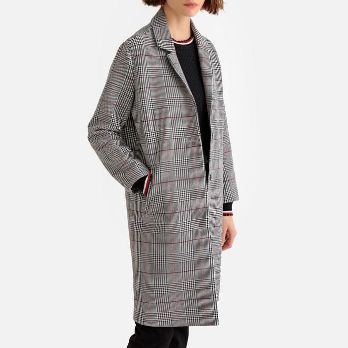 70c506a8f08 Tailored checked boyfriend coat