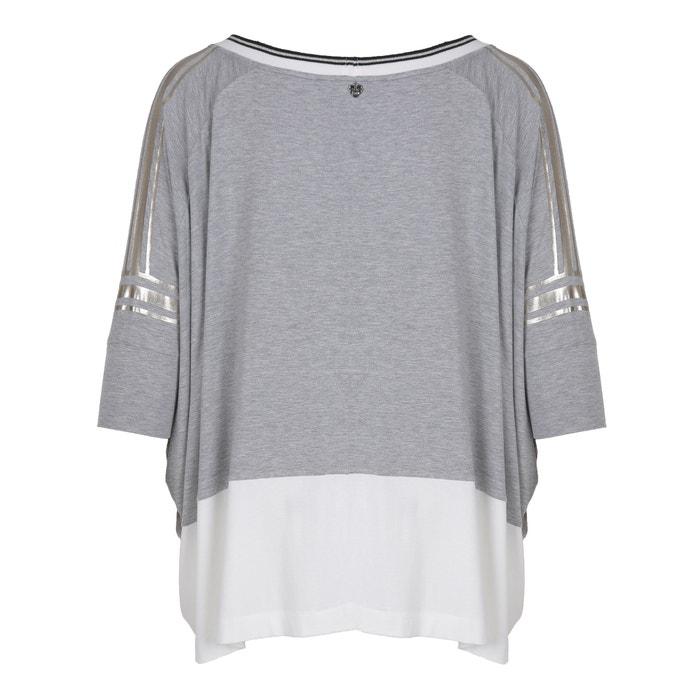 cuello de 4 con redondo manga Camiseta MAT FASHION 3 gqP0PZw