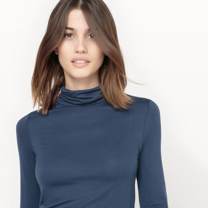 vuelto cuello Redoute con Camiseta lisa La Collections aPYxwSA