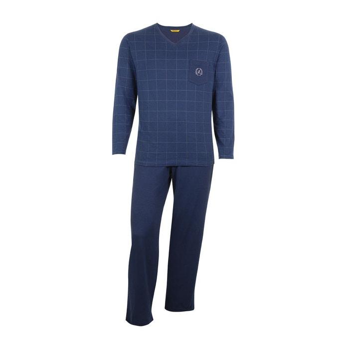 pyjama homme long vive les rayures carreaux fins marine eminence la redoute. Black Bedroom Furniture Sets. Home Design Ideas