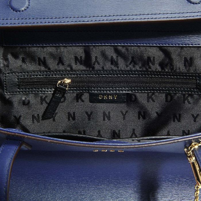 DKNY Grand Sac Cabas Bryant en Cuir Sutton Texturé Bleu Marine Dam9prZ