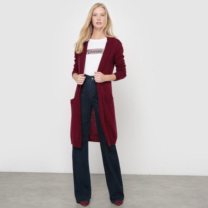 Image Długi sweter z nakrapianej dzianiny 52% wełny R essentiel