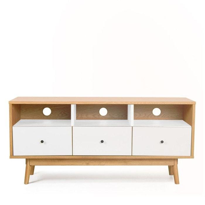 Meuble TV design scandinave 3 tiroirs Skoll DRAWER