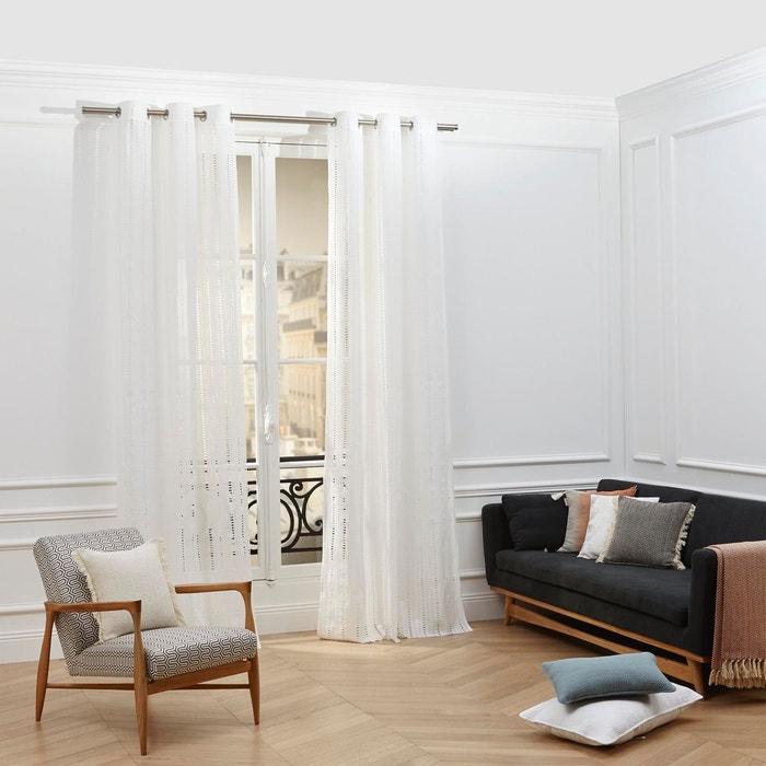 voilage oeillets coton marlow blanc blanc madura la redoute. Black Bedroom Furniture Sets. Home Design Ideas