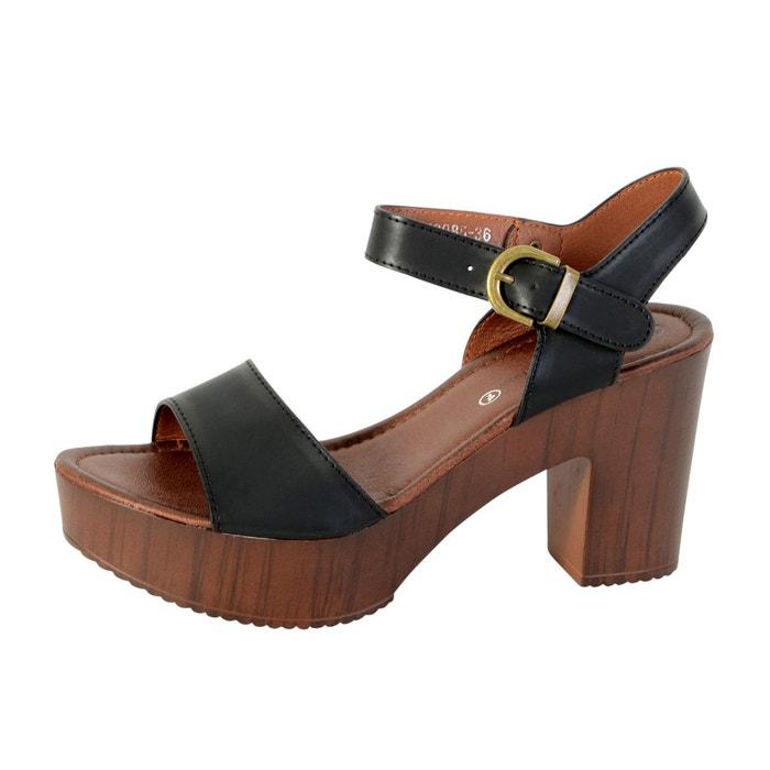 sandale talon noir noir the divine factory la redoute. Black Bedroom Furniture Sets. Home Design Ideas