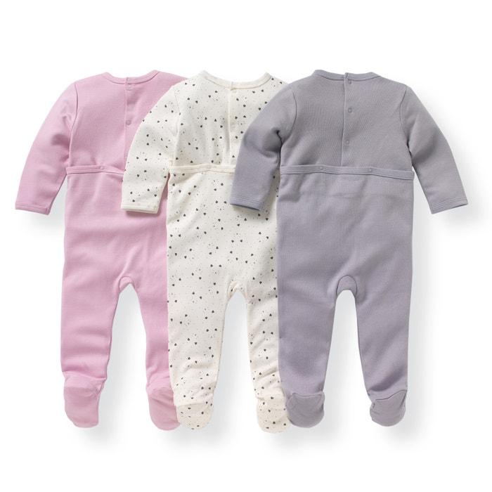 Image Lot de 3 Pyjamas coton imprimé 0 mois-3 ans La Redoute Collections