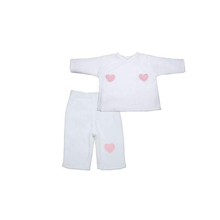 d865e3344a1d3 Pyjama bébé polaire blanc 0 au 12 mois blanc Poussin Bleu