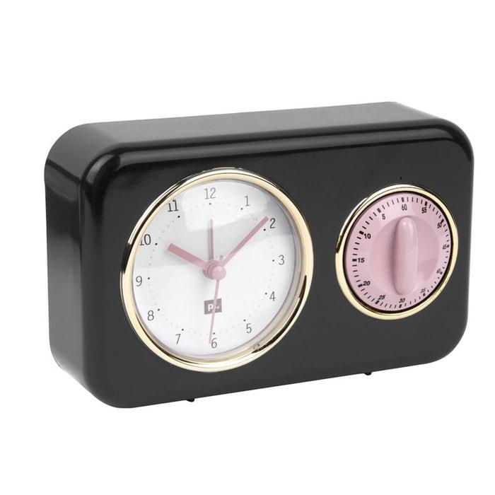 Horloge Et Minuteur De Cuisine Nostalgia Noir Noir Present Time