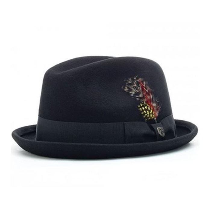 f4bffa8f148c Chapeau fedora gain avec plume noir Brixton   La Redoute