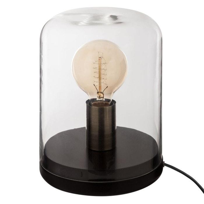 Noir Dôme Lampe Cm Diam17 En Bois c4A5Ljq3R