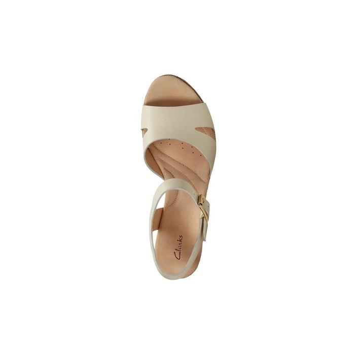 Sandales cuir Akilah compensé CLARKS talon Eden YwdqOOv
