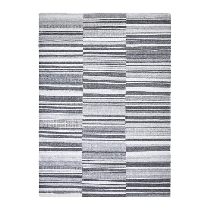tapis tiss plat motif kilim gilderoy gris ray am pm. Black Bedroom Furniture Sets. Home Design Ideas