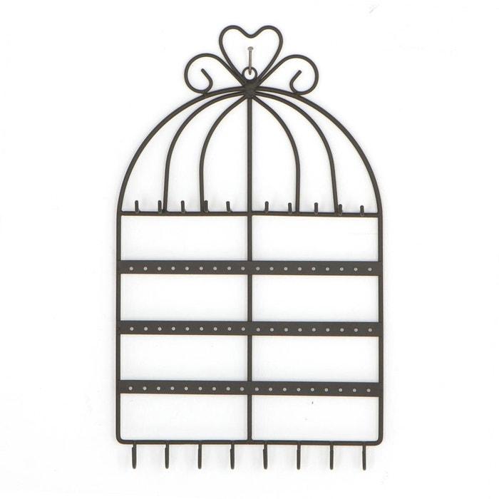 porte bijoux mural cage noir atmosphera la redoute. Black Bedroom Furniture Sets. Home Design Ideas