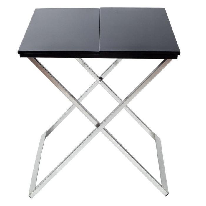 Table de chevet origami noir madura la redoute - Table de chevet la redoute ...
