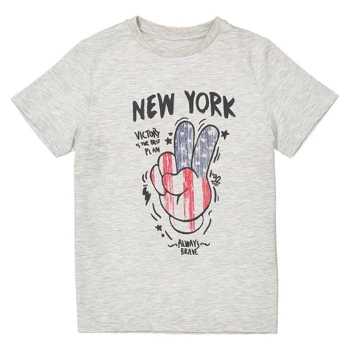T-shirt scollo rotondo 3 - 12 anni  La Redoute Collections image 0