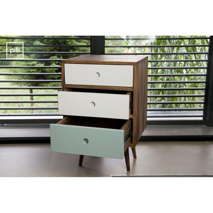 bloc 3 tiroirs stockholm couleur unique produit interieur brut la redoute. Black Bedroom Furniture Sets. Home Design Ideas
