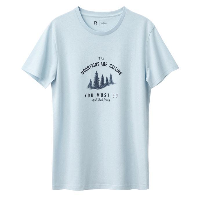 Image T-shirt con scollo rotondo fantasia 100% cotone La Redoute Collections