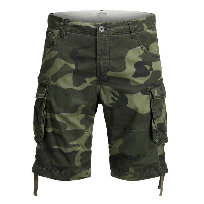 Camouflage Print Combat Bermuda Shorts  JACK & JONES image 0