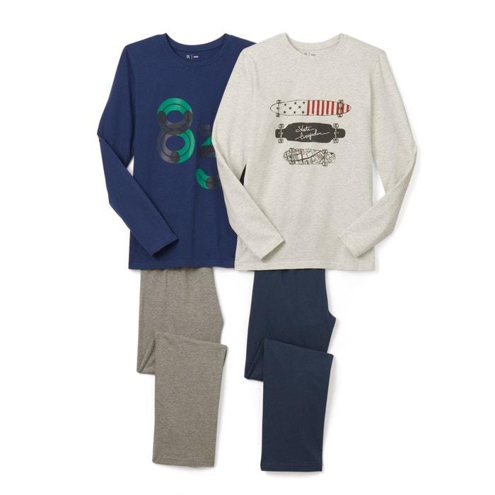 Pyjama imprimé 10-16 ans (lot de 2)
