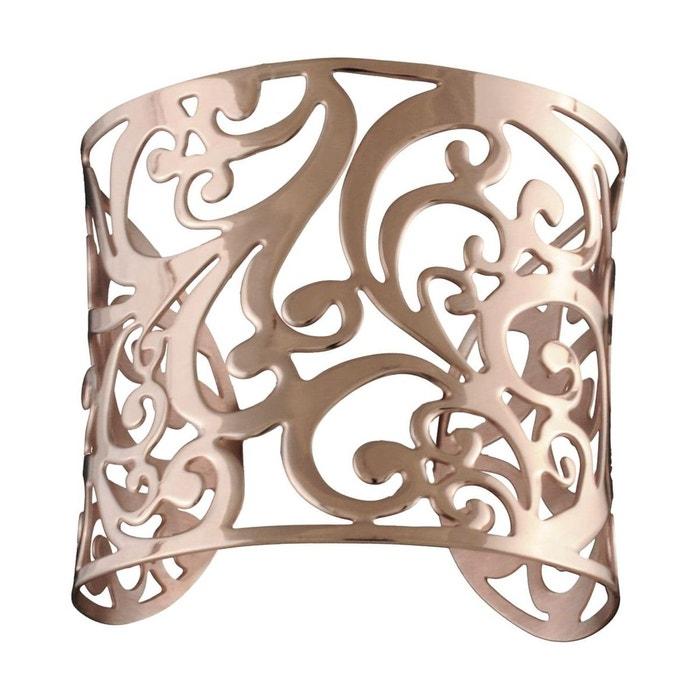 Bracelet manchette femme découpe florale volutes doré rose acier inoxydable couleur unique So Chic Bijoux | La Redoute Choix Pas Cher En Ligne V2fx21K