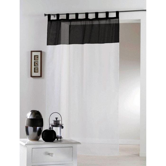voilage bicolore passants home maison la redoute. Black Bedroom Furniture Sets. Home Design Ideas