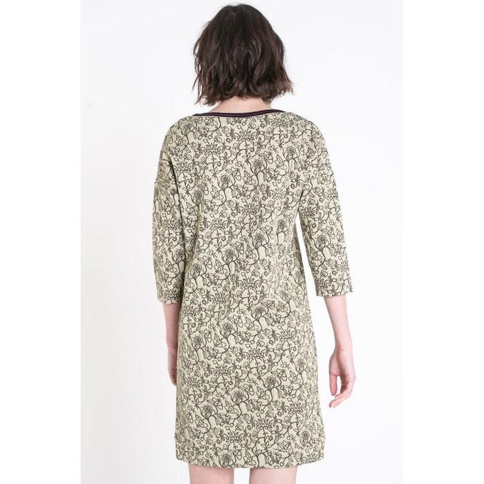 34b9217066c Robe courte cintrée col en v à fleurs all1-excentric-w Bonobo