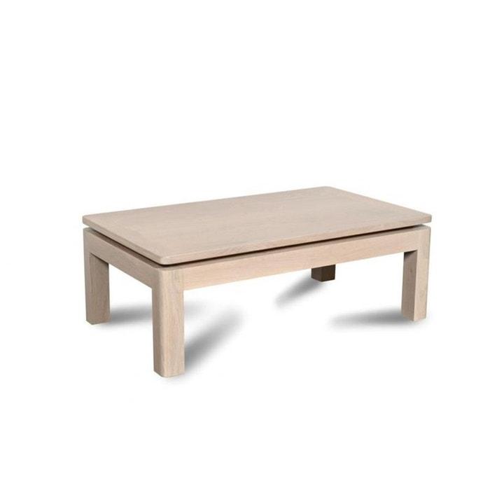 table basse atlantique bois ch ne blanchi massif blanc. Black Bedroom Furniture Sets. Home Design Ideas