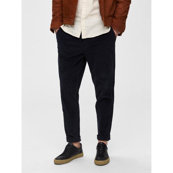 pantalon coupe droite velours c tel selected homme la. Black Bedroom Furniture Sets. Home Design Ideas