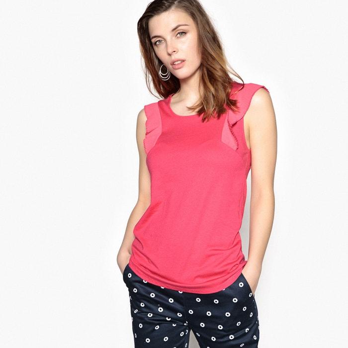 T-shirt met ronde hals, korte fantasie mouwen  ANNE WEYBURN image 0