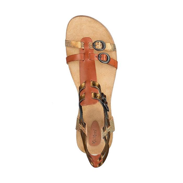 Sandales cuir ana bronze Kickers