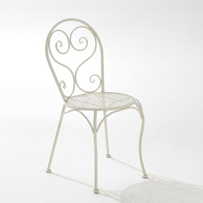 Chaise de jardin métal, vendue à lunité