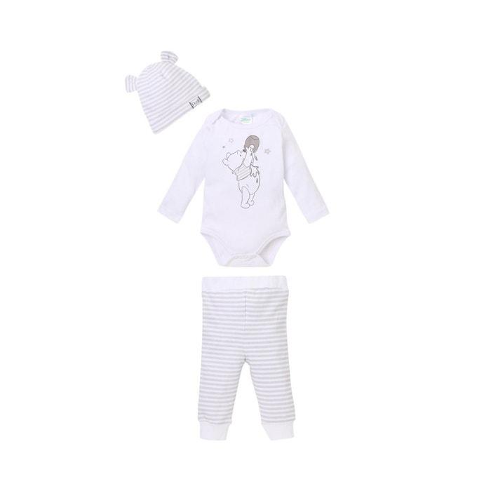 Body pour bébé avec leggings et bonnet blanc Winnie L ourson   La ... d922df4fbd6
