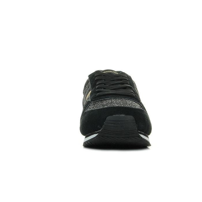 Baskets femme linea fondo stella dis1 suede shiny textile noir, doré Versace
