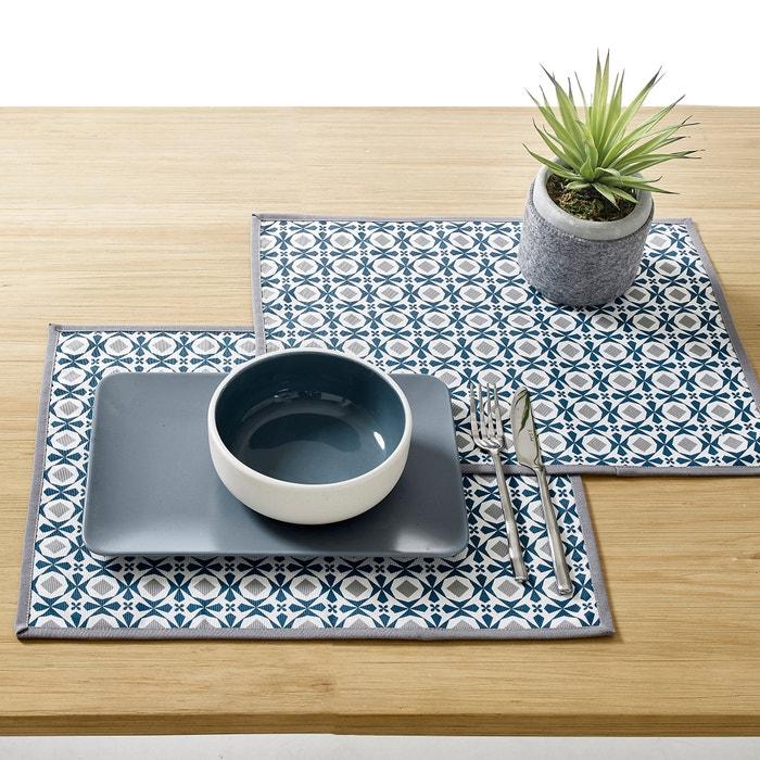 Set da tavola HÉLIA policotone spalmato, confezione da 2  La Redoute Interieurs image 0