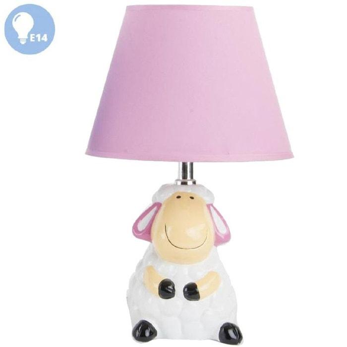 petite lampe de chevet mouton mod le rose united labels. Black Bedroom Furniture Sets. Home Design Ideas