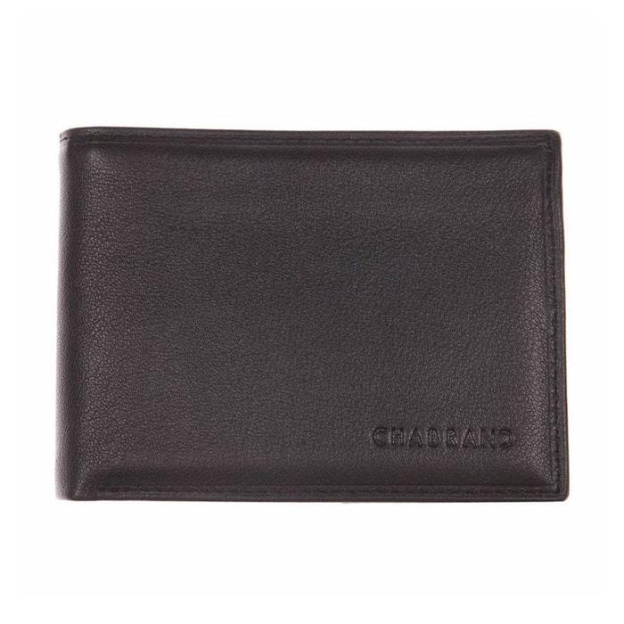 Portefeuille italien en cuir noir à 3 volets cuir noir Chabrand | La Redoute Naturel Et Librement gV4K5T