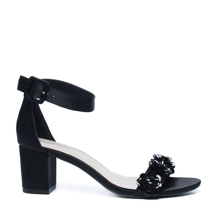 Escarpins avec paillettes fleur noir Sacha Express Rapide 8G5QTYR4WE