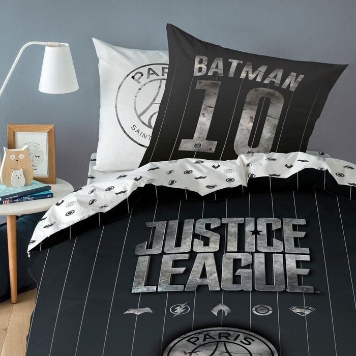 Parure Housse De Couette Pur Coton Psg X Justice League Noir Psg