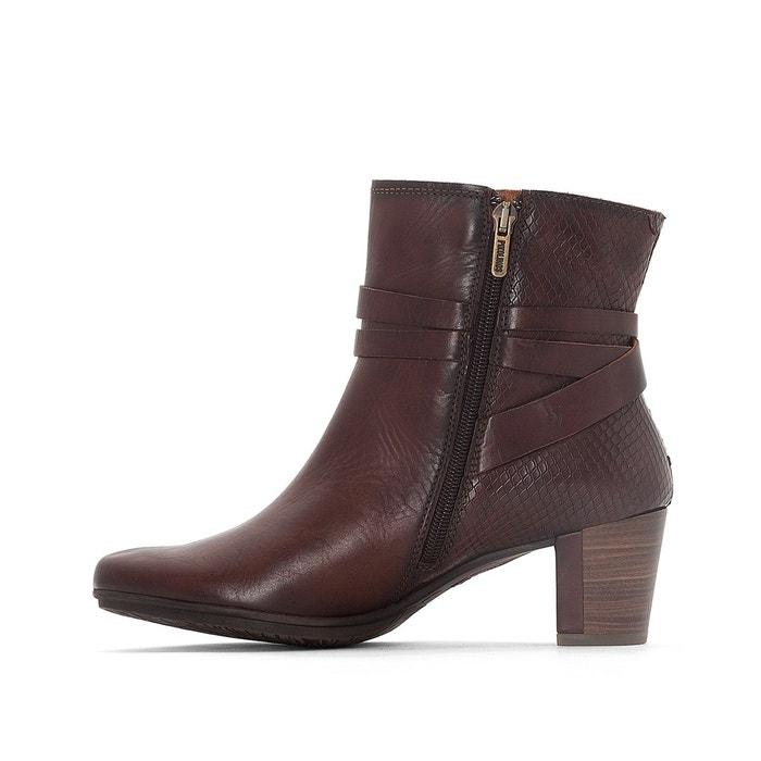 Boots cuir segovia w1j marron Pikolinos