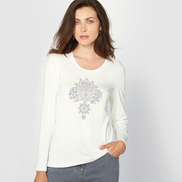 Image T-shirt cotone & modal ANNE WEYBURN