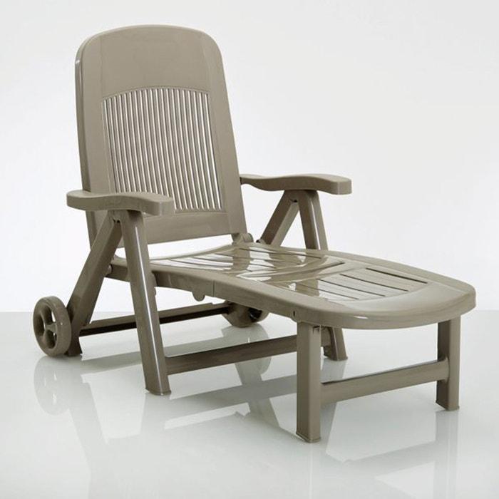 Chaise longue, pliante, résine