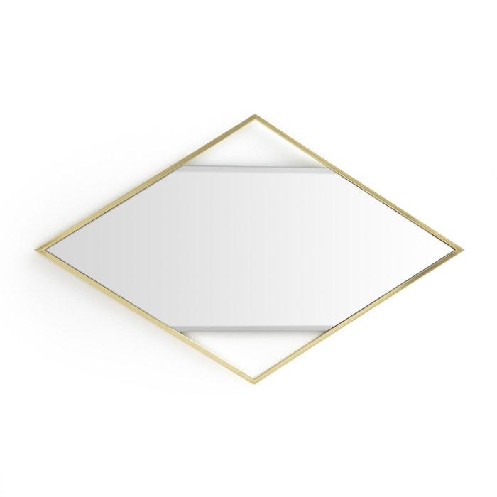 Miroir losange en laiton reflet la redoute interieurs for Miroir reflet