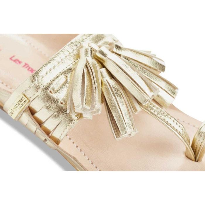 Sandales cuir entre doigts opium or Les Tropeziennes Par M Belarbi