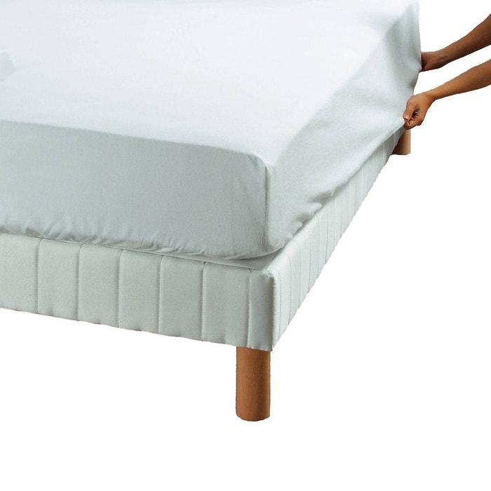 Prot ge matelas drap housse microporeux 240gr m blanc origin la redoute - Drap pour matelas 180x200 ...