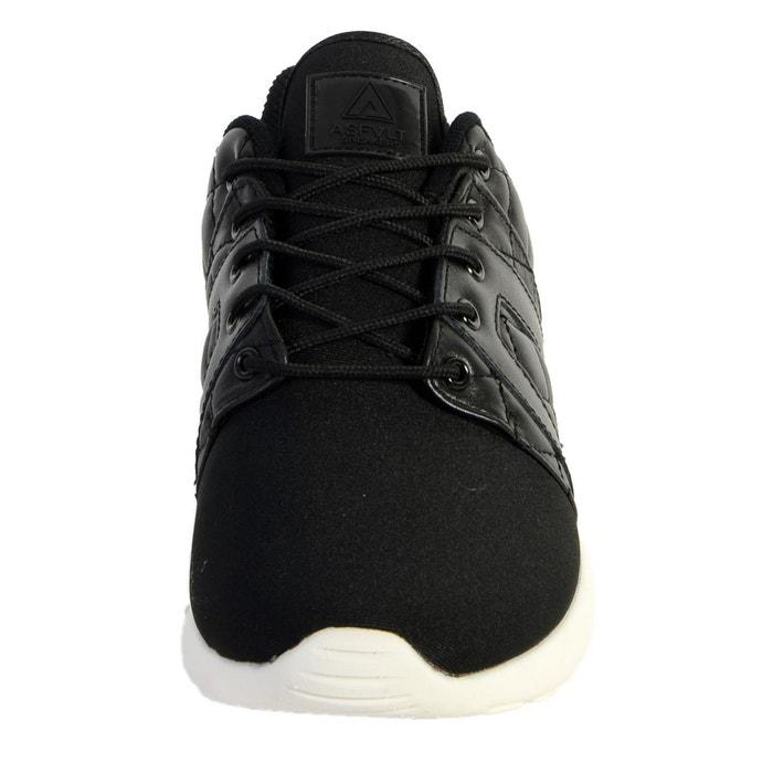 Basket super prenium noir black quilted noir Asfvlt