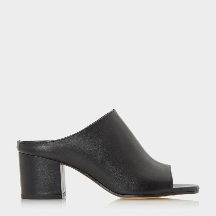 Sandales peep toe à talons façon mules - ilaria Dune Black