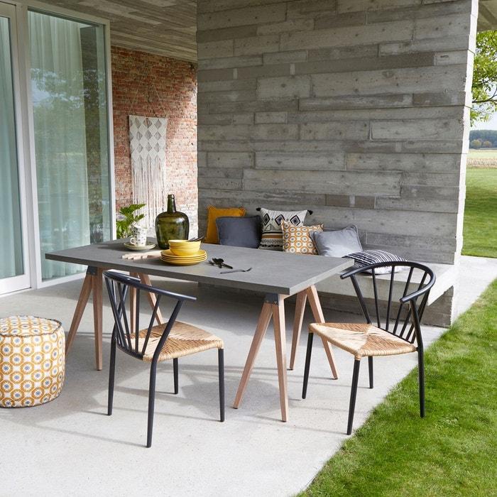 Chaise de jardin glazin lot de 2 la redoute interieurs - La redoute salon de jardin ...