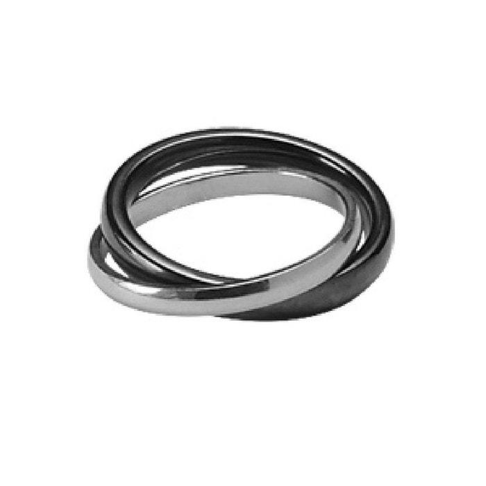 Jeu Recommande Bague alliance 2 anneaux liés céramique noire argent 925 couleur unique So Chic Bijoux | La Redoute Acheter Des Photos Bon Marché De Footlocker eLONuy